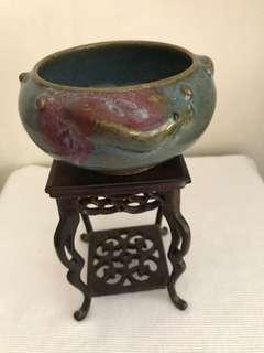 A junyao Three Fish Porcelain Incense Burner