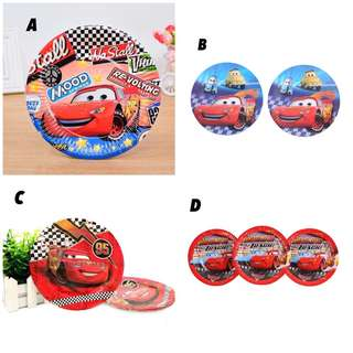 """🚘 Lightning McQuern Disney Cars party supplies - 7"""" party plates"""