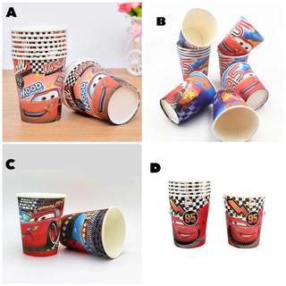 🚘 Lightning McQueen Disney Cars Party Supplies - party cups