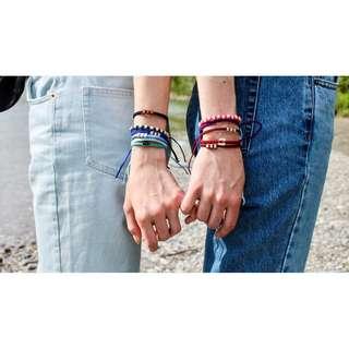 25-30% off BeyondBeanie Couple Bracelets (Pink / Black / Caramel / Purple / Green / Grey / Orange / Yellow)