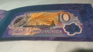 New Zealand 2000年鈕酉蘭第一曙光紀念鈔