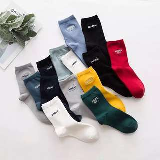 Iconic High Cut Socks for Men or Women (7 Pairs/Set Free Size)