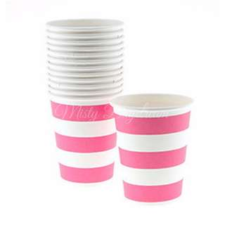 Classic Stripe Cups Value Pack (Set Of 12) – Hot Pink