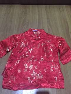 Chinese costume 3/4 sleeves for 7 to 8 yrs old