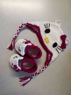 Crochet Hello Kitty Baby Apparel