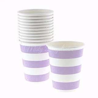 Classic Stripe Cups Value Pack (Set Of 12) – Lavender