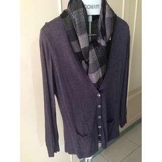SALE! Sweater / Pullover / Cardigan w FREE Scarf