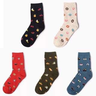 Mid Cut Iconic Socks Foodie Design