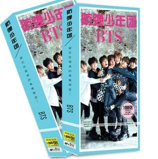 BTS 188pcs photo cards set(PO)