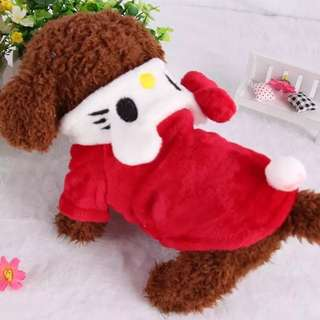 Dog dress/top (hello kitty - red)