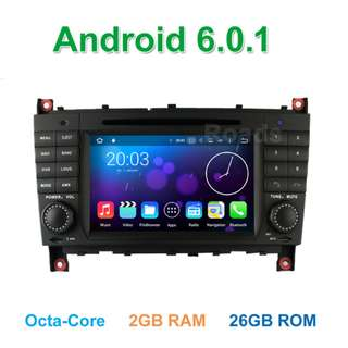 BENZ MERCEDES W203 ANDROID DVD PLAYER MIRROR LINK
