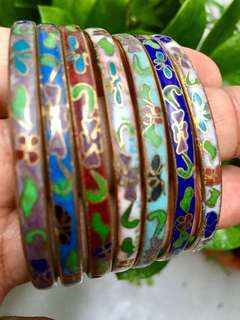 5 Chinese Cloisonne Bangles for $38!