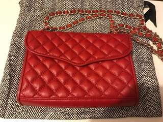 Rebecca Minkoff red leather mini quilted affair bag - shoulder / crossbody style