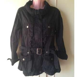 SALE! Black Denim Trench Coat / Jacket
