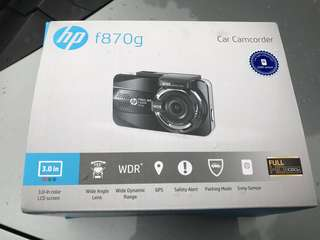 HP dual f870g + rc3 car camcorder (very new)