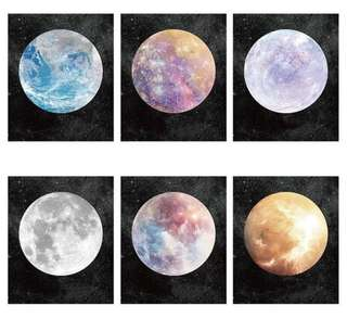 📑[INSTOCK] Moon/Planets/Cosmos Notepad