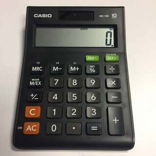 Casio Calculator MS-10B (Market piece $88, but now $60)