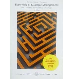 Essentials of Strategic Management: The Quest for Competitive Advantage 5th Edition
