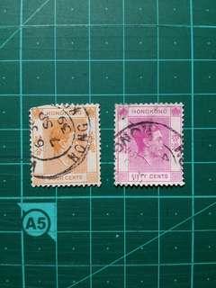[贈品]1939-52 喬治六世通用舊票兩枚