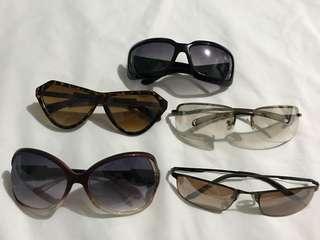 assorted eyewear sunglasses