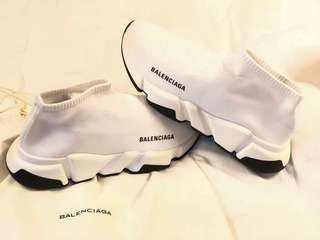 White Balenciaga Speed Trainers