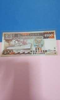 $100-ship sign GKS 1ST PREFIX A/1-698704