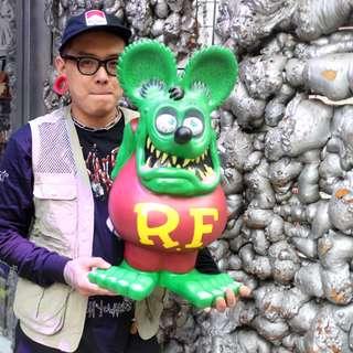 「Rat Fink Ratfink RF FUNKO 老鼠 芬克 24吋 巨大 公仔 存錢筒 @公雞漢堡」