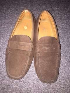 Suede loafers/slip on/flat shoes