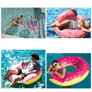Giant inflatable float swimming
