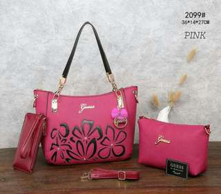 Guess Tote Bag 2 in 1 Pink Color
