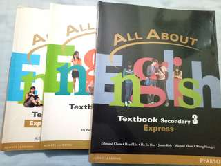 Sec 1-3 :All About English Textbook