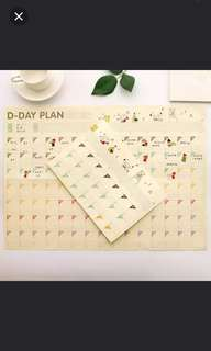Planner - D-day format