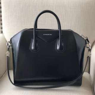 authentic Givenchy small antigona black