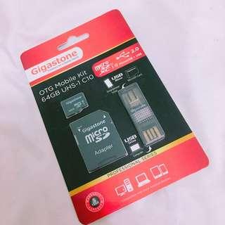 🚚 Gigastone OTG UHS-1 64GB 記憶卡