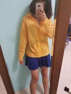 黃色微透膚薄外套