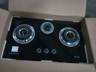 New glass hob dapur kaca stove Baru