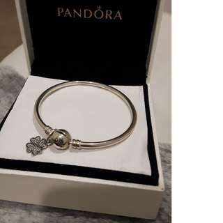 Pandora bracelet with fourleaf chem