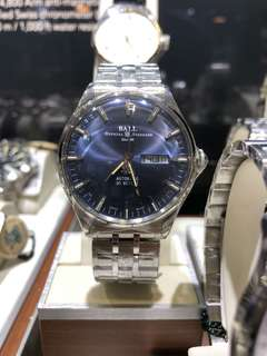 Ball trinmaster eternity man watch blue dial on bracelet