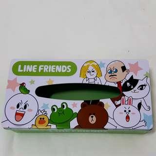 LINE鐵製面紙盒