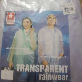 2 Transparent Raincoats L & XL