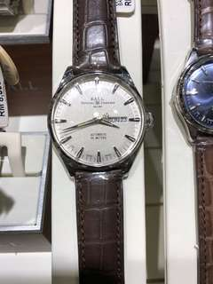 Ball Trainmaster eternity man watch on leather strap watch
