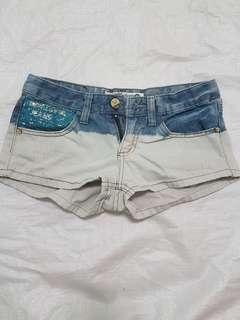 藍白牛仔短褲