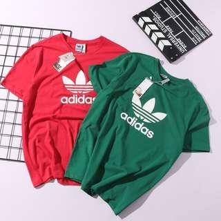 Adidas Originals 純棉短T 三葉草情侶款短袖T恤