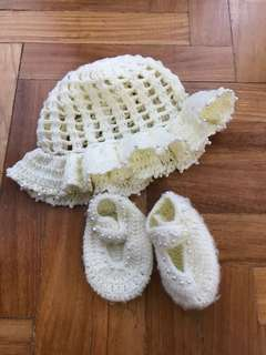 Baby and shoes hat