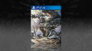 PS4 Monster Hunter World日版