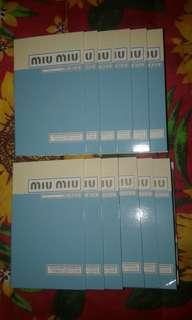 Take All 12 pcs. Miu Miu + Free shipping
