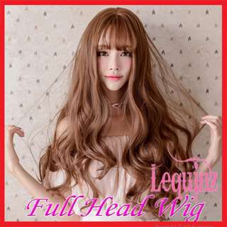 Full Head Long Curly Hair Big Wavy Locks Wigs Honey Pudding