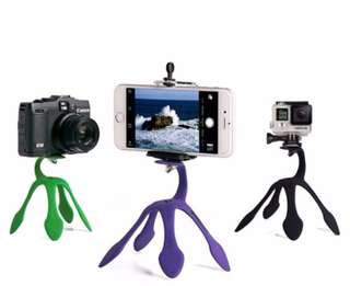 Multifunctional Flexible Gecko Tripod - Black