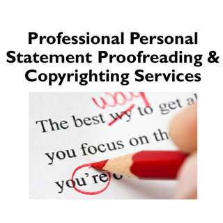 Professional Personal Statement & Essay Proofreading & Copywriting