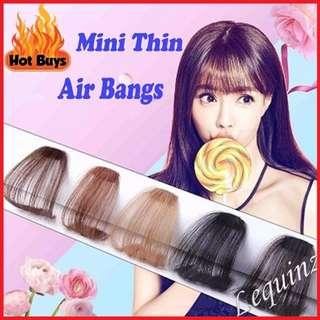 Chestnut Brown Mini Thin Air Bangs Natural Clip on 2/33